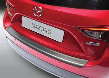 Накладка на задний бампер Mazda 3, хэтчбек, 2013-2017