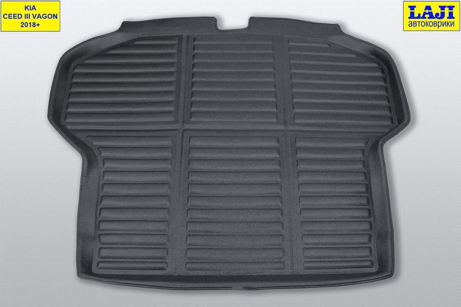 3D коврик в багажник Kia Ceed SW III 2018-н.в. 2
