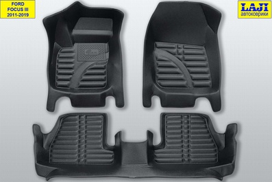 5D коврики в салон Ford Focus 2 2005-2011 1