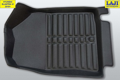5D коврики в салон Hyundai Elantra 6 AD 2016-2020 5