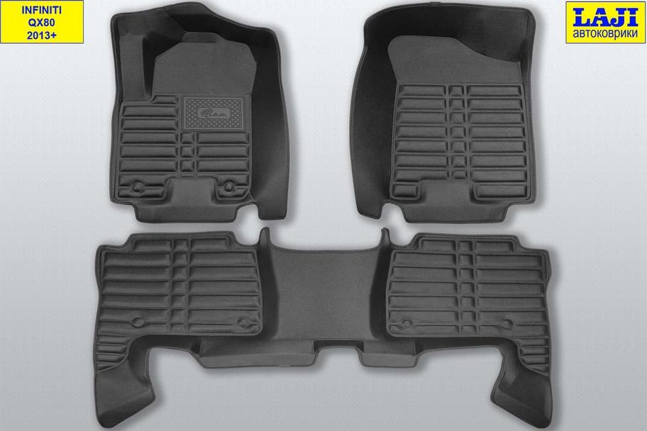 5D коврики в салон Infiniti QX80 2013-н.в. 1