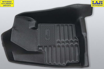 5D коврики в салон Mitsubishi Outlander 2 2005-2013 3