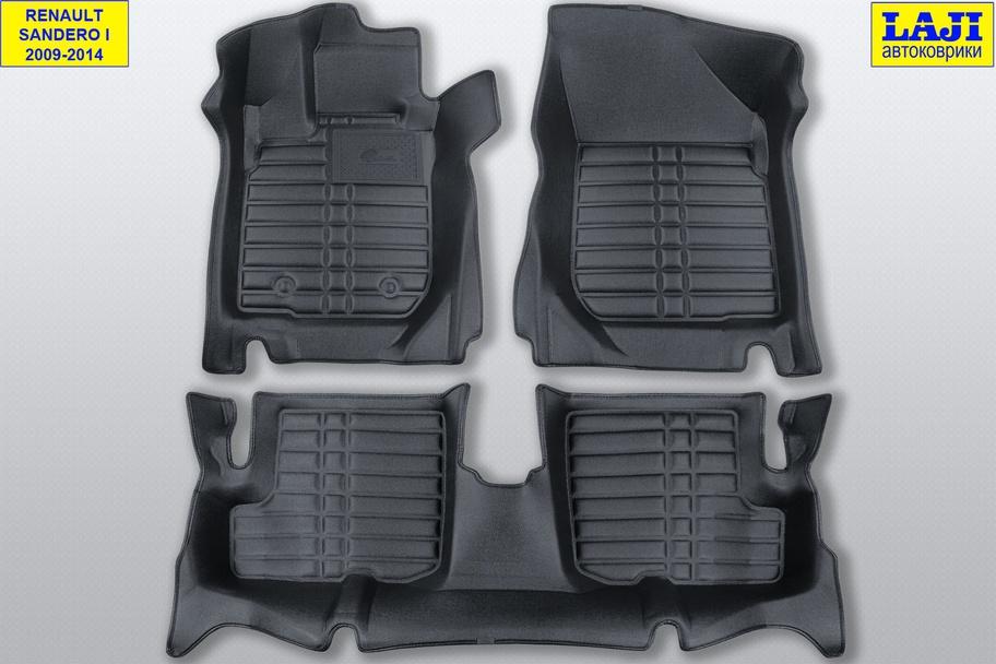 5D коврики в салон Renault Sandero 1 2009-2014 1