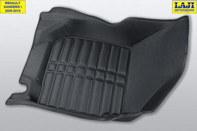 5D коврики в салон Renault Sandero Stepway 1 2009-2014 5