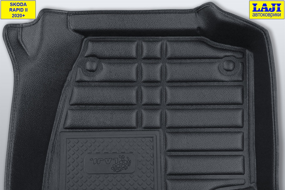 5D коврики в салон Skoda Rapid 2 2020-н.в. 8