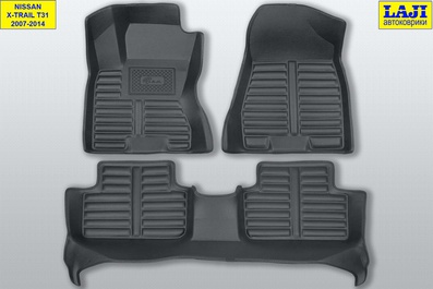 5D коврики в салон Nissan X-Trail 2 T31 2007-2014 1