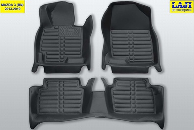 5D коврики в салон Mazda 3 BM 2013-2019 1