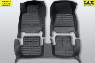 5D коврики в салон Mercedes CLA C117 2013-2019 1