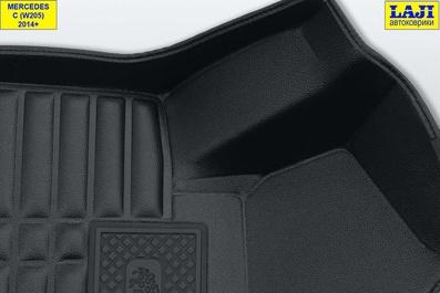 5D коврики в салон Mercedes С W205 2014-н.в. 6