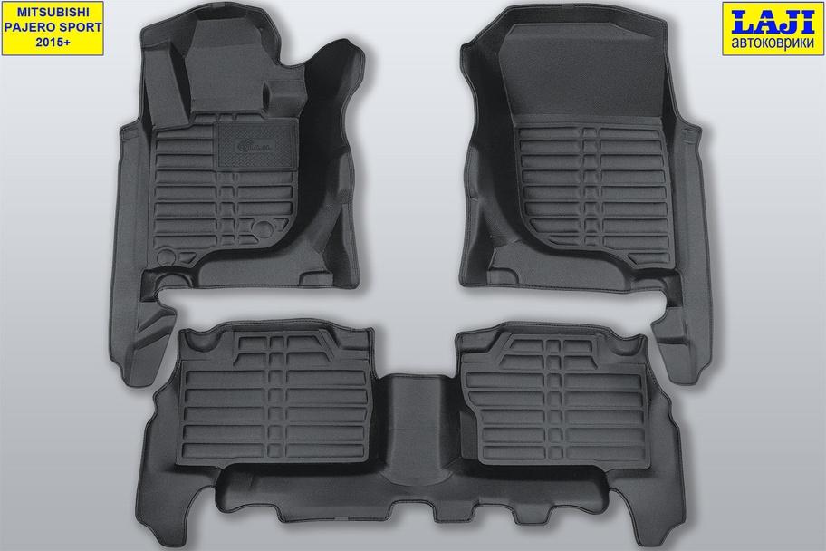 5D коврики в салон Mitsubishi Pajero Sport III 2015-н.в. 1