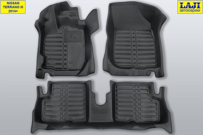 5D коврики в салон Nissan Terrano 3 D10 2014-н.в. 1