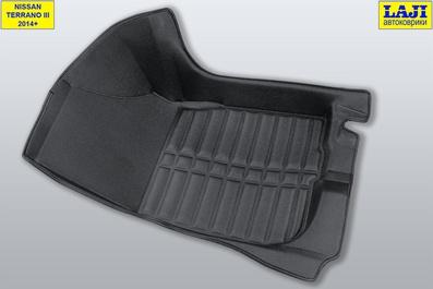 5D коврики в салон Nissan Terrano 3 D10 2014-н.в. 4