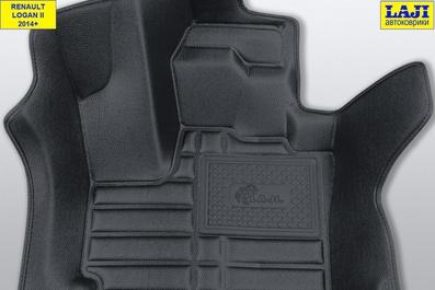 5D коврики в салон Renault Logan 2 2014-н.в. 6