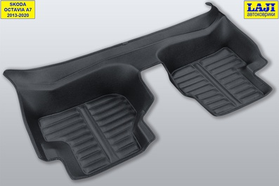 5D коврики в салон Skoda Octavia A7 2013-2020 10