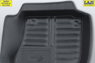 5D коврики в салон Skoda Octavia A7 2013-2020 8