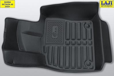 5D коврики в салон Skoda Octavia A8 2020-н.в. 3