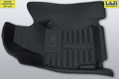 5D коврики в салон Subaru Forester III 2007-2013 3