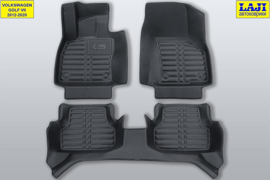 5D коврики в салон Volkswagen Golf 7 2012-2020 1