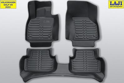 5D коврики в салон Volkswagen Golf 8 2020-н.в. 1