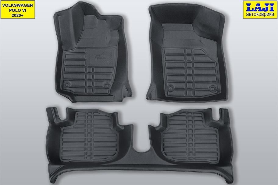 5D коврики в салон Volkswagen Polo 6 2020-н.в. 1
