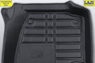 5D коврики в салон Volkswagen Polo 6 2020-н.в. 8