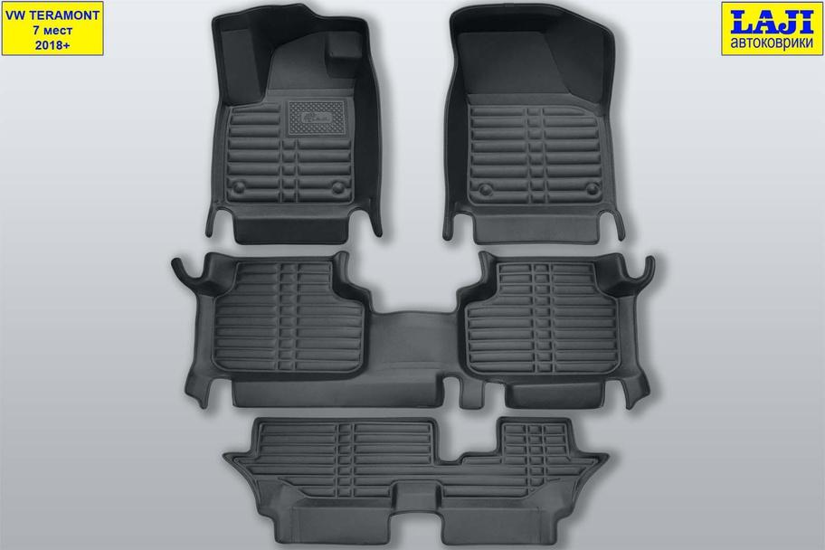 5D коврики в салон Volkswagen Teramont 7 мест 1