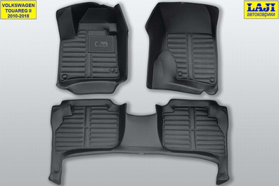 5D коврики в салон Volkswagen Touareg 2 2010-2018 1