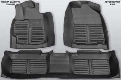 5D коврики в салон Toyota Camry XV50 2011-2018 1