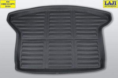 3D коврик в багажник Kia Ceed III хэтчбек 2018-н.в. 2