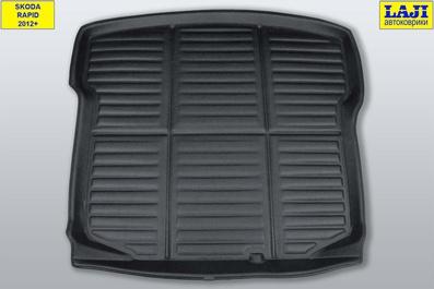 3D коврик в багажник Skoda Rapid 1 2012-2020 2