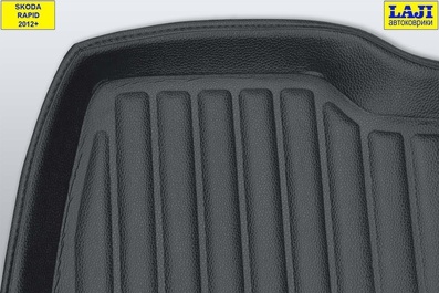 3D коврик в багажник Skoda Rapid 1 2012-2020 4