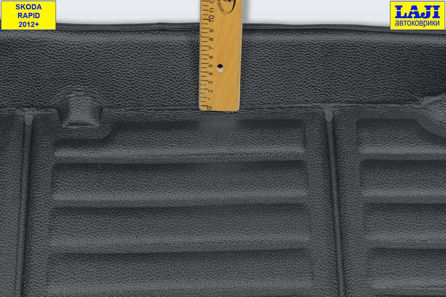 3D коврик в багажник Skoda Rapid 1 2012-2020 5