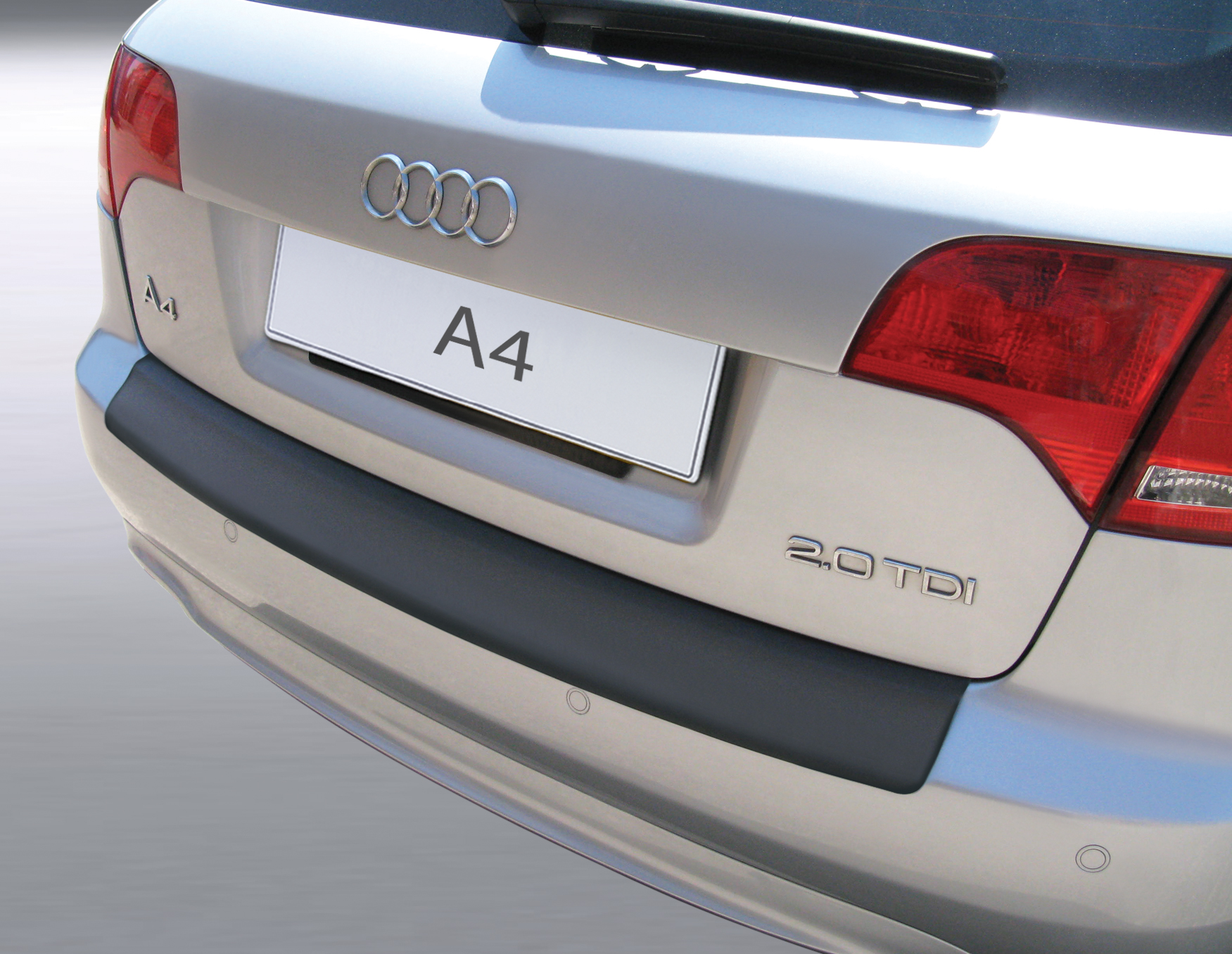Накладка на задний бампер Audi A4 Avant, Ауди А4 универсал, 2004-2008
