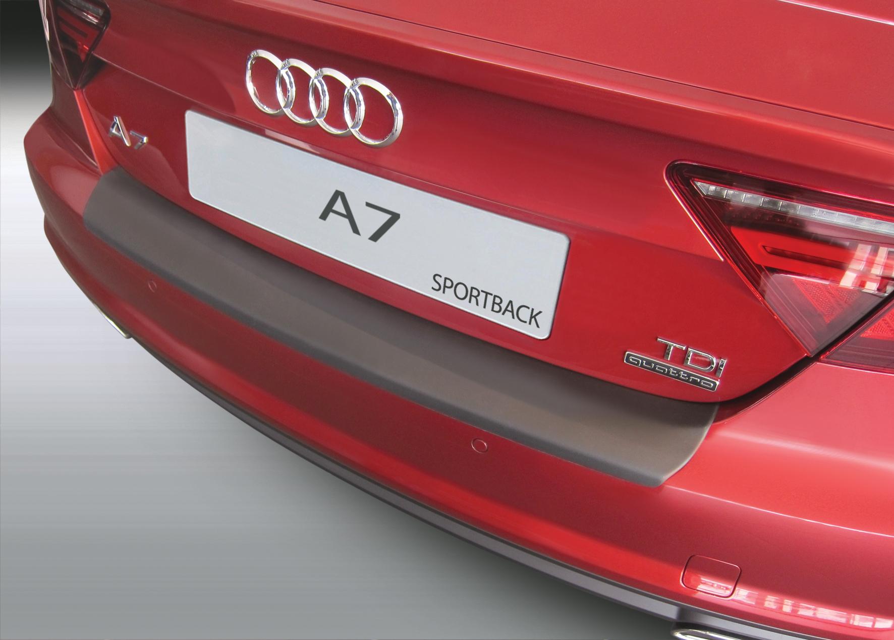 Накладка на задний бампер Audi A7, лифтбек, 2016-2018