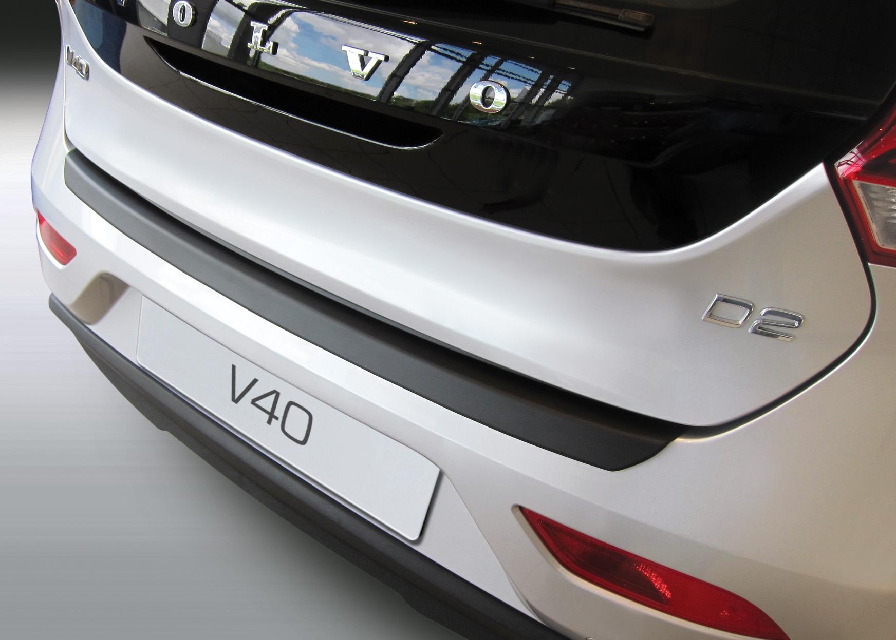 Накладка на задний бампер Volvo V40, 2012-н.в.