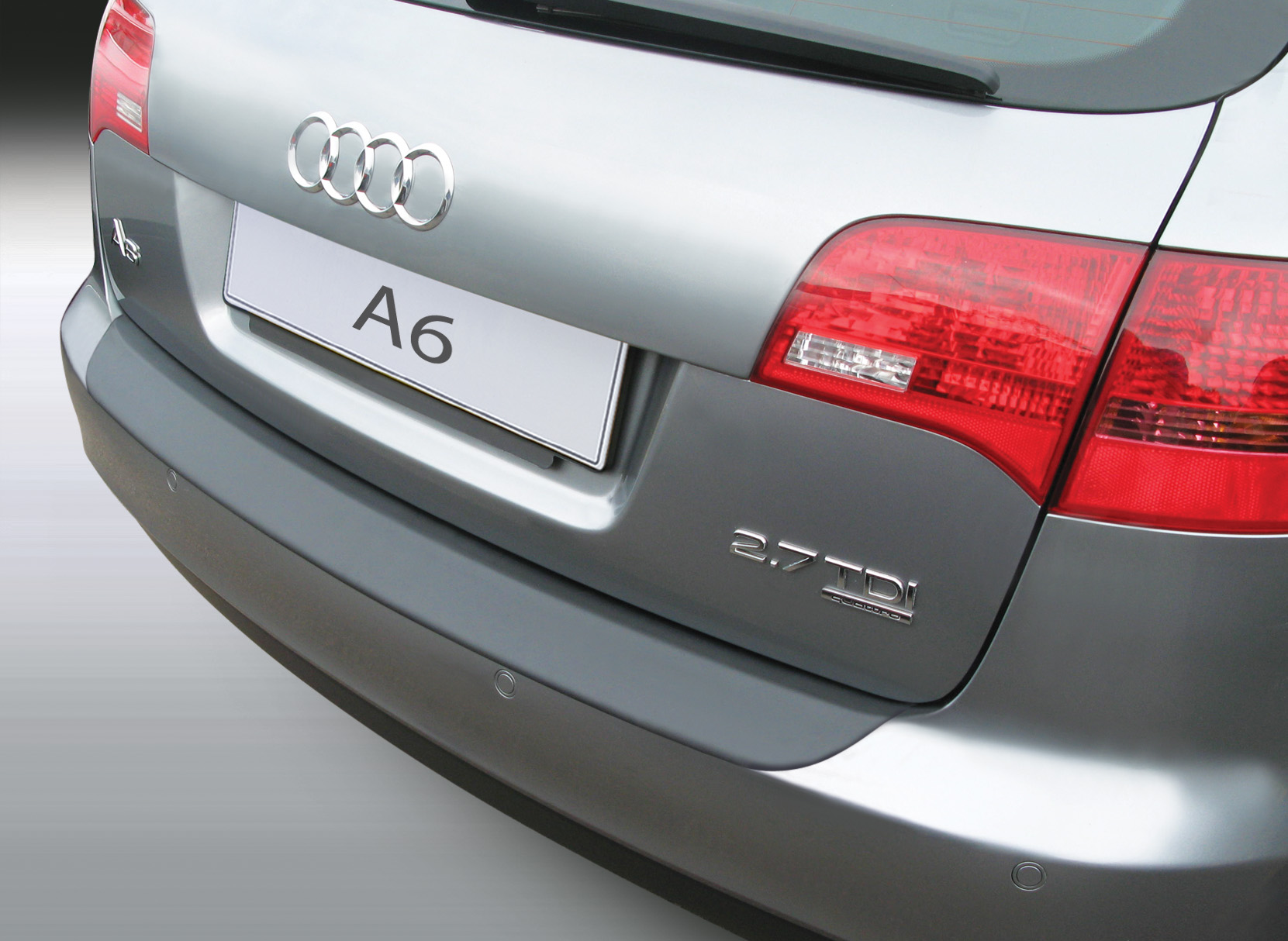 Накладка на задний бампер Audi A6 Avant, Ауди А6, 2004-2011