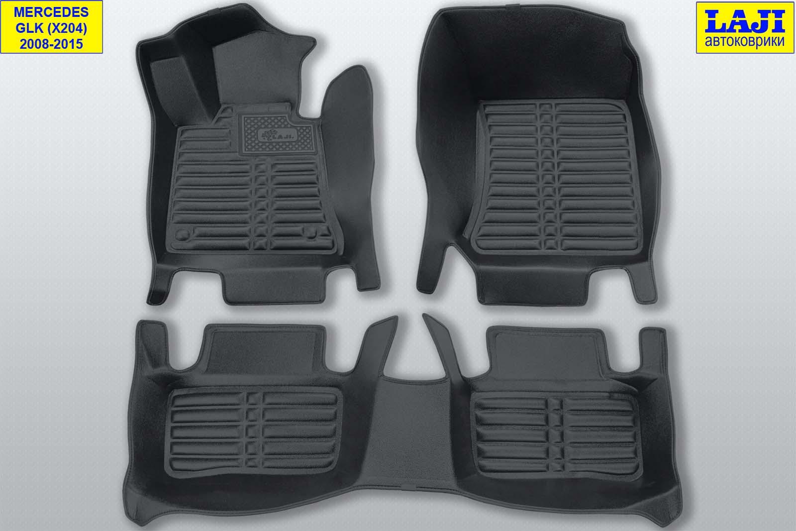 5D коврики в салон Mercedes GLK X204 2008-2015 1