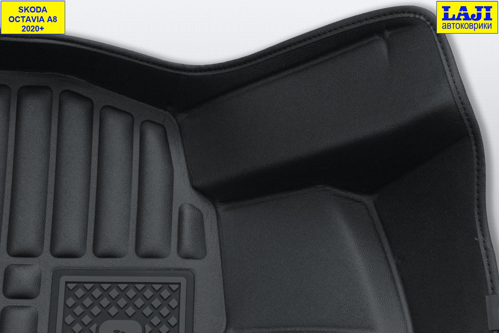 5D коврики в салон Skoda Octavia A8 2020-н.в. 6