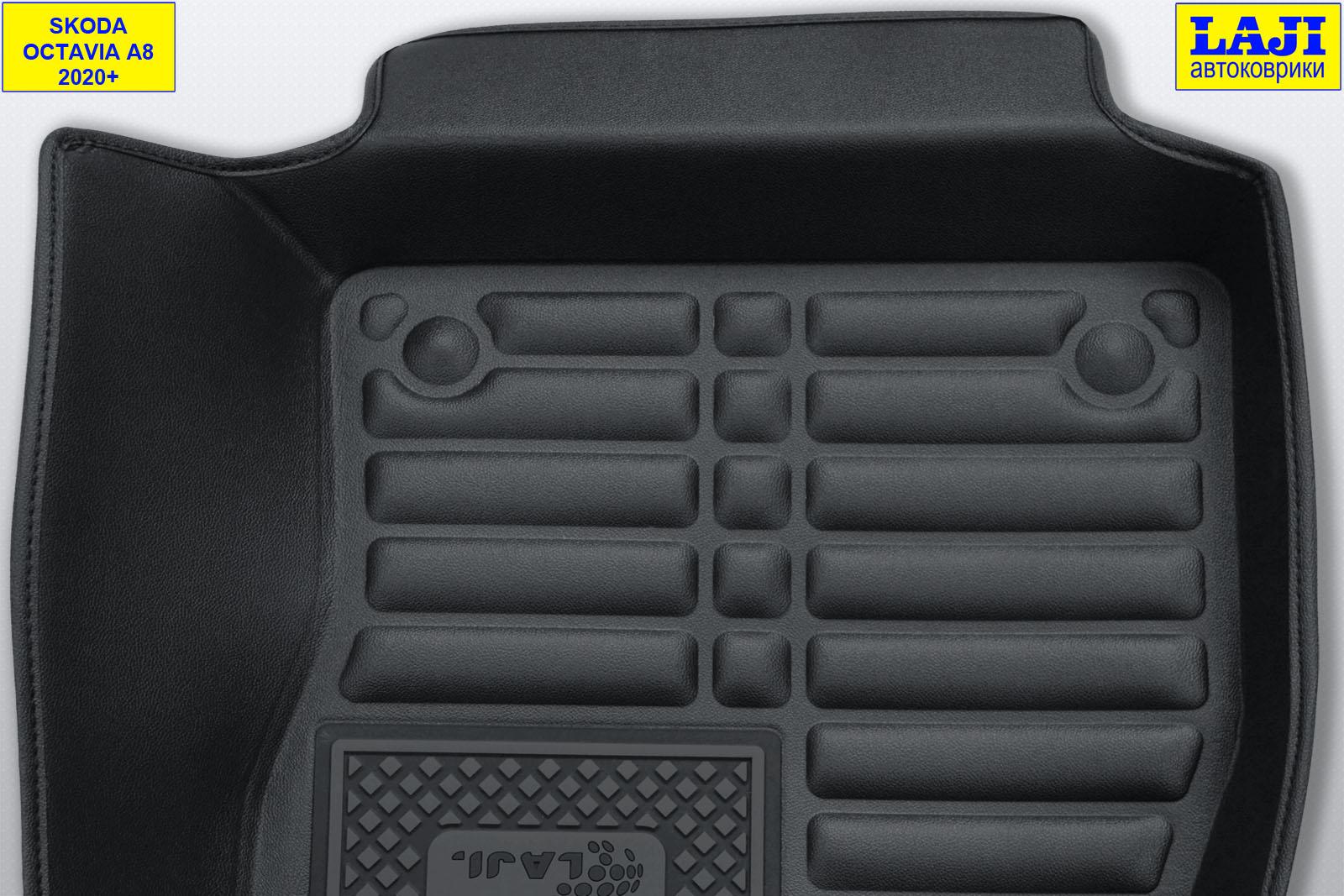 5D коврики в салон Skoda Octavia A8 2020-н.в. 8